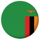 Zambia Country Flag 25mm Keyring